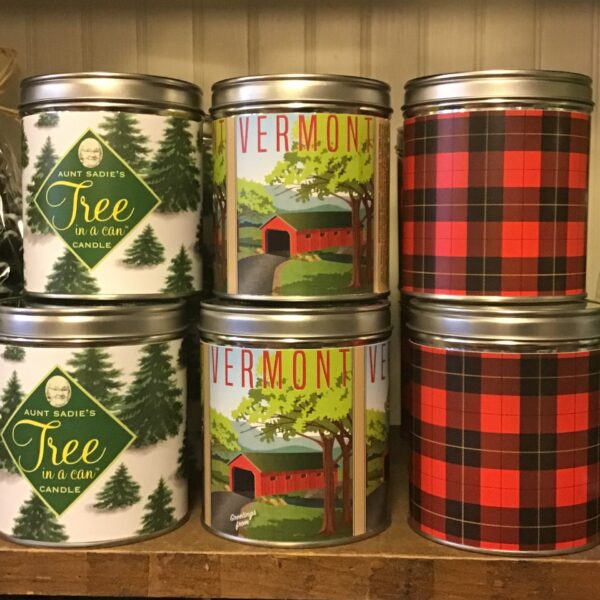 various Aunt Sadie's Large Can candles