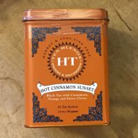 Hot Cinnamon Sunset tea tin