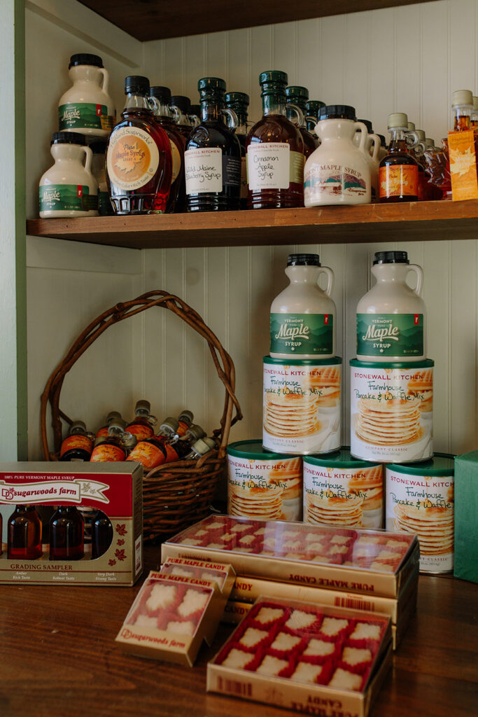 Maple syrup products at the Rochester Country Store