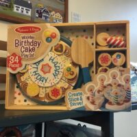 Rochester Country Store Wooden Birthday Cake children's toy
