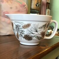 Rochester Country Store bowl with pinecones
