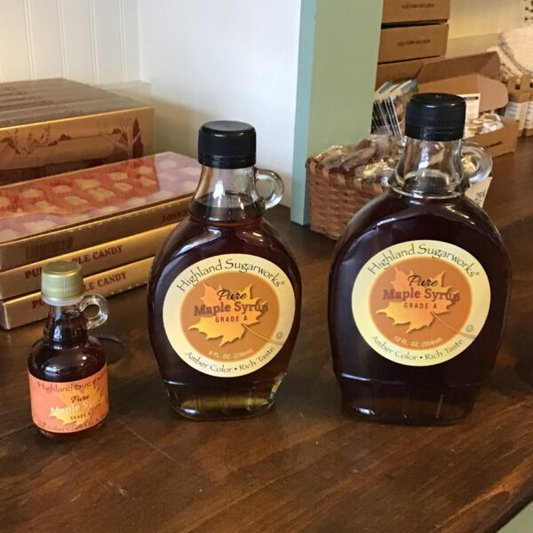 Rochester Country Store Maple Syrup in glass