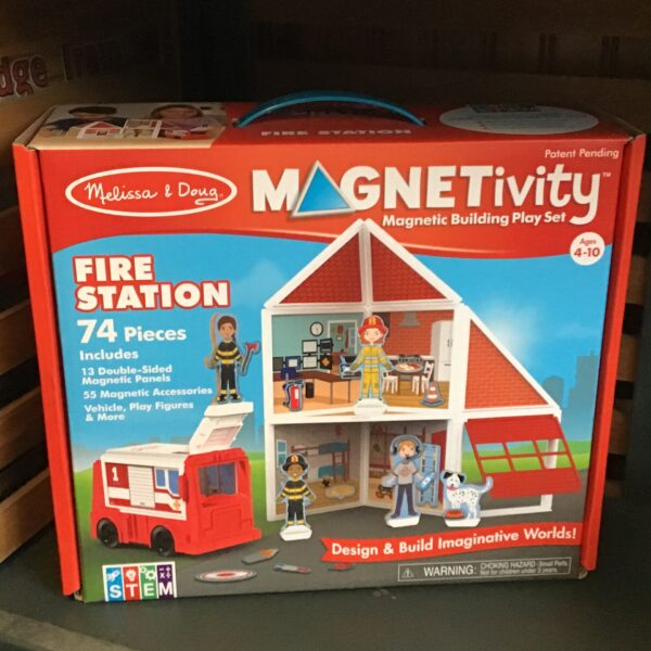 Rochester Country Store Magnetivity Fire Station children's toy