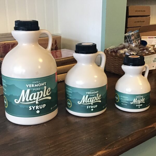 Rochester Country Store Vermont Maple Syrup in jugs