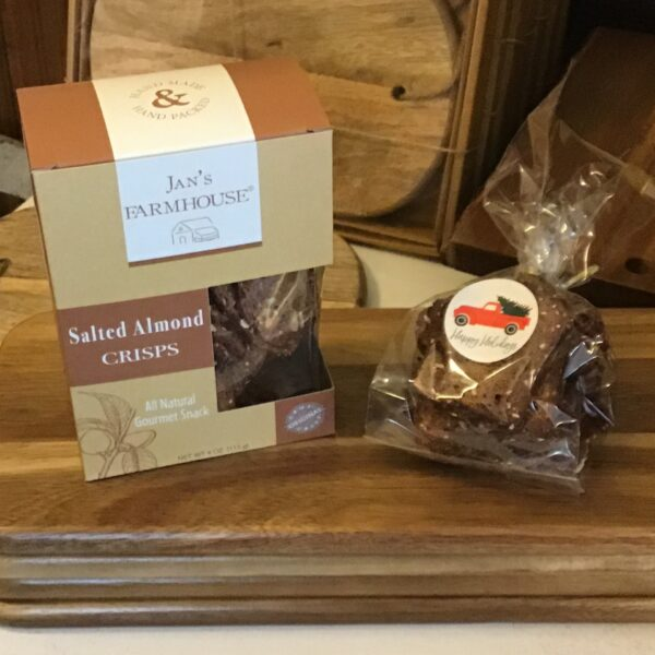 Rochester Country Store Jans Farmhouse Salted Almond Crisps