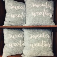 Rochester Country Store sweater weather pillow